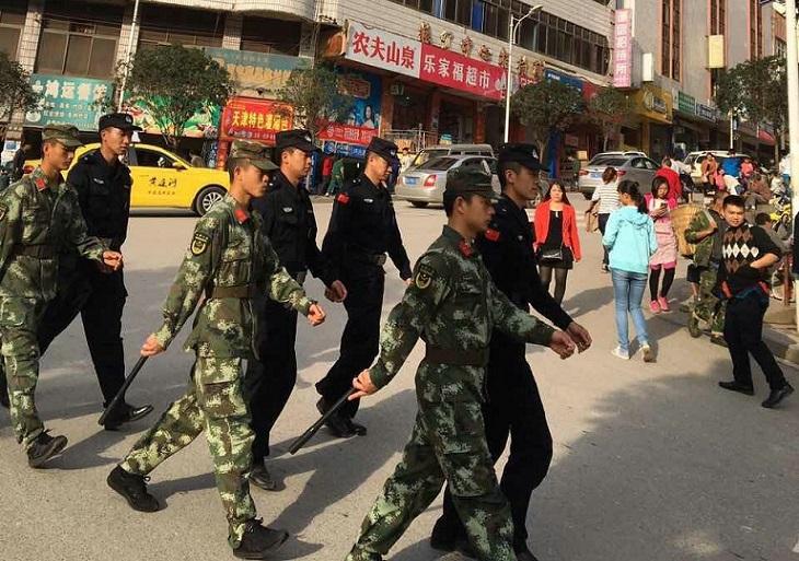 """大关警方圆满完成""""国庆""""安保工作"""
